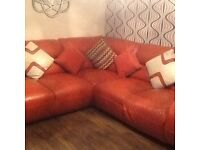 Right hand leather sofa immaculate condition no marks or tears can deliver local ��400 ono