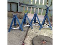 4 x adjustable car axle stands