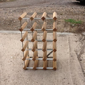 Wooden portable wine rack