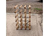 Wooden portable wine rack