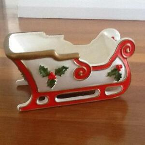 "Fitz and Floyd ""Christmas Sleigh"" Centrepiece Taren Point Sutherland Area Preview"