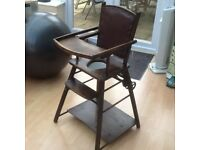 METAMORPHIC WOODEN HIGH CHAIR