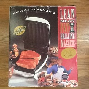 GEORGE FORMAN GRILL - HEALTHY  Lean, Mean Grilling Machine