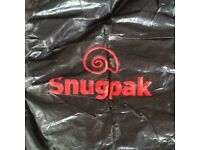 Snugpak sleeper 2+ red/ black down filled sleeping bag, New never used.