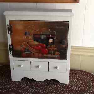 Hand painted Apple cupboard