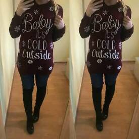 Baby it's cold outside jumper dress