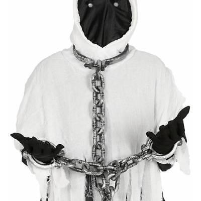 Hals und Hand Fesseln 110 Cm Gefangene Kugelkette Halloween Kostüm