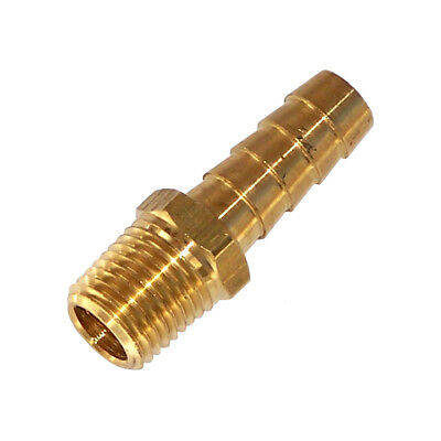 Brass 14 Npt X 516 Hose Barb Fitting Fuel Air Water Transmission Usa Seller