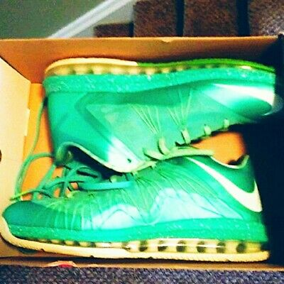 sports shoes de563 e4545 Nike Air Max LeBron 10 X Low Easter Crystal Mint Green Men s Size 11 with  BOX