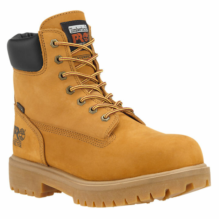 Timberland PRO Soft Toe Direct Attach 6 Inch Wheat Leather Work Boots  A22UK