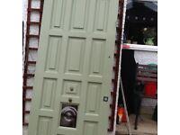 Wooden front door just needs stripping down