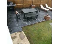 Fencing, landscaping, decking and paving