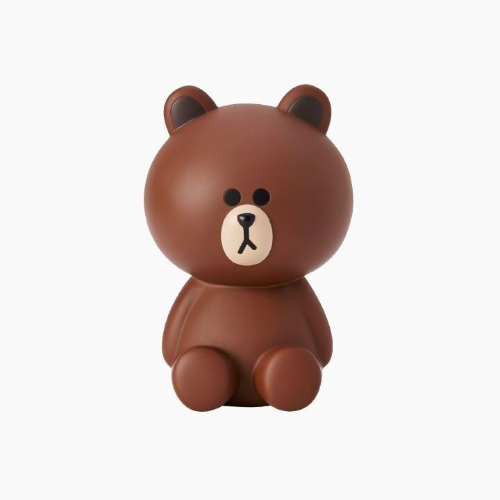 LINE Friends BROWN Figure Coin Bank Art Toy Money Box Character Deco Home Desk