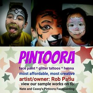 kids party super hero or princess face paint for events