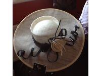 Klass Brand New Cream/black Wedding Hat