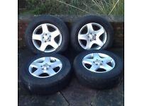 VW Touareg alloys and Goodyear wrangler all weather tyres