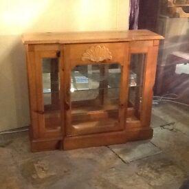 American Pine display cabinet