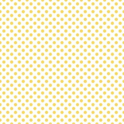 Dots Yellow on White Small by RBD Designers for Riley Blake, 1/2 yard fabric