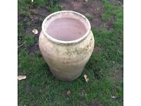 LARGE GARDEN POT-NATURAL WEATHERED LOOK