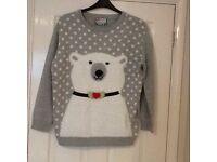 Ladies Christmas Jumper (polar bear) Size Medium