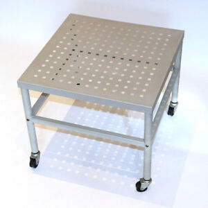 All-METAL Side Table with Castor Wheels