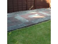 PAVING SLABS X 75,SQUARE,GREY & RED