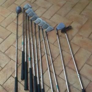 Full set golf clubs  bag balls ideal beginners