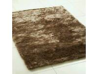 Polyester sparkle shaggy rugs