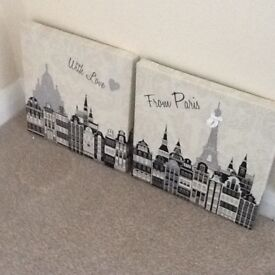 Paris Canvas Prints with a pair of matching cushions
