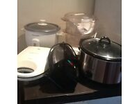 Slow cooker & rice cooker & food steamer & omelette maker & doughnut maker