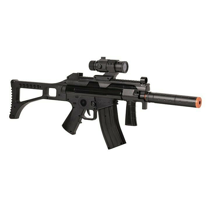 Game Face TACR91 Tactical Full/Semi-Auto Airsoft Rifle with Rechargeable Battery