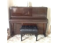 Upright piano for sale with adjustable stool