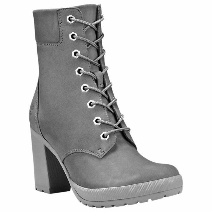 Timberland Women's Camdale 6 inch High Heel Gray Leather Boots Style A1W75