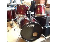 Mapex venus seven piece drum kit