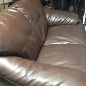 Bonded Leather Love Seat & Sofa
