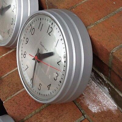 "Vintage 10"" Simplex Glass / Metal Wall Clock With Plug - Very Good"