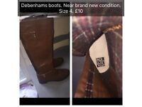 Debenhams size 4 boots