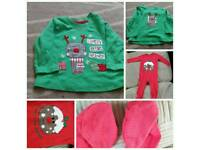 9-12 months Christmas top and sleepsuit