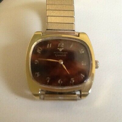 Longines Wittnauer Geneve. Hugely rare. Superb Condition Tortoise shell face.