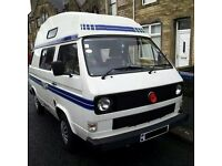 VW T25 Autosleeper campervan 1.9 Petrol 1987 84,000 miles MOT APR 17 -OIRO £6k