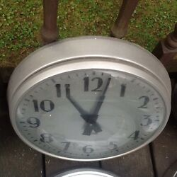 Standard Industrial Vintage Wall Slave Clock 12 Glass -3 Metal - Very Good