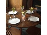 Table and 4 chairs - solid wood chairs and frame with heat resistant veneered top.