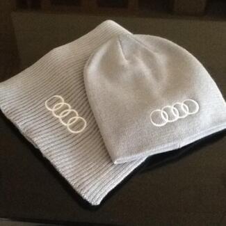 ORIGINAL  AUDI UNISEX WOOL HAT AND SCARF SET BRAND NEW