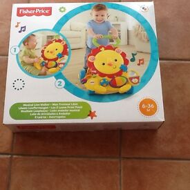 New Fisher-Price Musical Lion Baby Walker