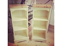 Gorgeous hand painted matching bedside cabinets