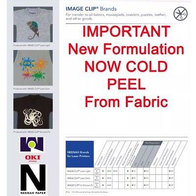 Photo Imageclip Laser Heat Transfer Paper 8.5x11 100 Image Clip Light White Tex