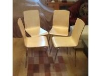 Set of four kitchen chairs.