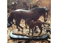 Hand crafted resin horses
