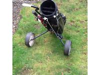 Golf club and trolley set