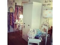 Beautiful cream large single wardrobe